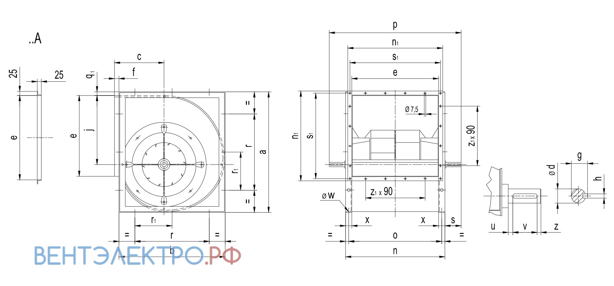 Исполнение и типразмер Comefri VTZ 630