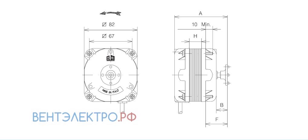 Установочные размеры ELCO NET2T05ZVN001 с экранированными полюсами