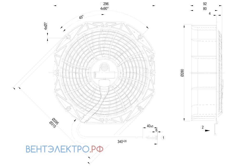 Ebmpapst W1G250-BB17-01 характеристики, параметры, подбор вентилятора