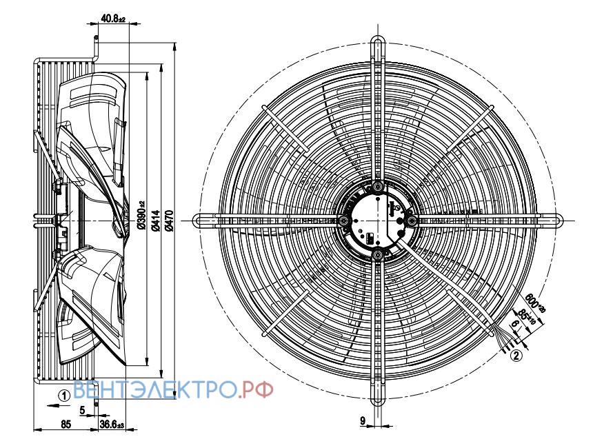 Ebmpapst S3G400 сертификаты, доставка