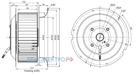 Габаритные размеры RE200F-4D-AC0