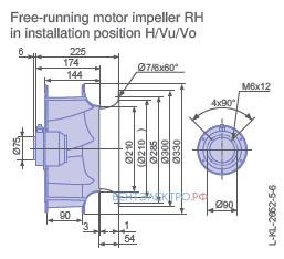 Размеры RH31V-4DK.2C.1R